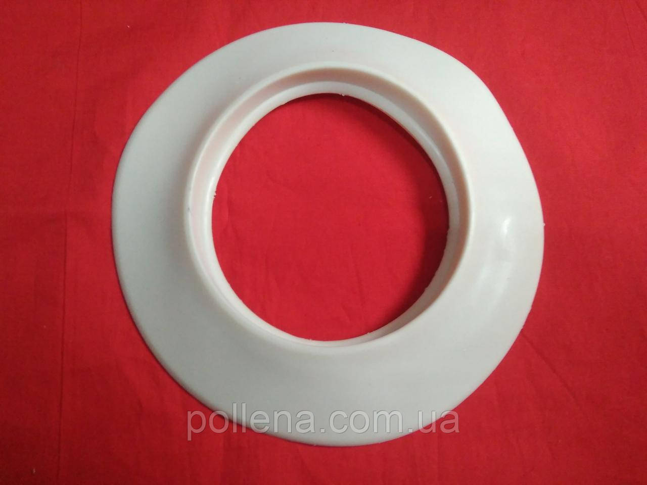 Накладка манжета 100мм резиновая на коаксиальную трубу 60/100 белая