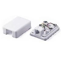 Розетка RITAR UTP 6P4C RJ12 1 порт. телефонная накладная белая, пакет Q50