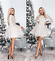 """Нарядное гипюровое платье """"Kimberlie"""" с фатиновой юбкой (5 цветов), фото 3"""