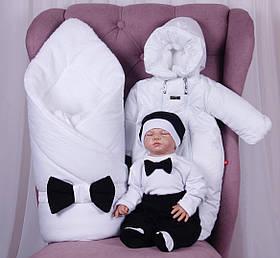 Зимний набор для выписки новорожденных мальчиков Classic Boy, 6 предметов