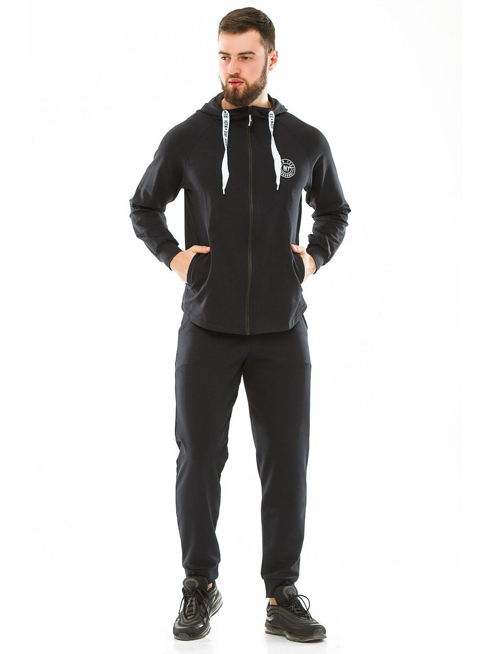 Мужской спортивный костюм 702 темно-синий