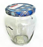 Банка стеклянная  для консервации Everglass 580 мл. с металлической крышкой твист - офф