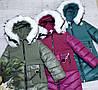 Зимняя куртка 66-479 на 100% холлофайбере размеры от 134 см до 158 см рост