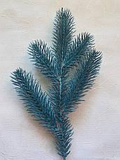 Искусственная хвоя.Ветка ели пятёрка.Веточка искусственной хвои голубая ( 30 см), фото 3