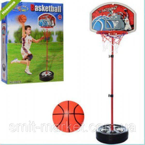 Баскетбольное кольцо M 2927 на стойке,щит-пластик,сетка,мяч
