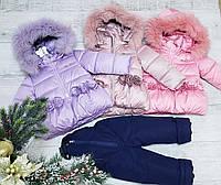 Комбинезон на 100 % холлофайбере 2024 комплект куртка + полукомбинизон размеры 74 до 98, фото 1