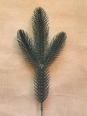 Веточка голубой ели . Еловая ветка для декора . Литая еловая веточка (27 см) ., фото 3