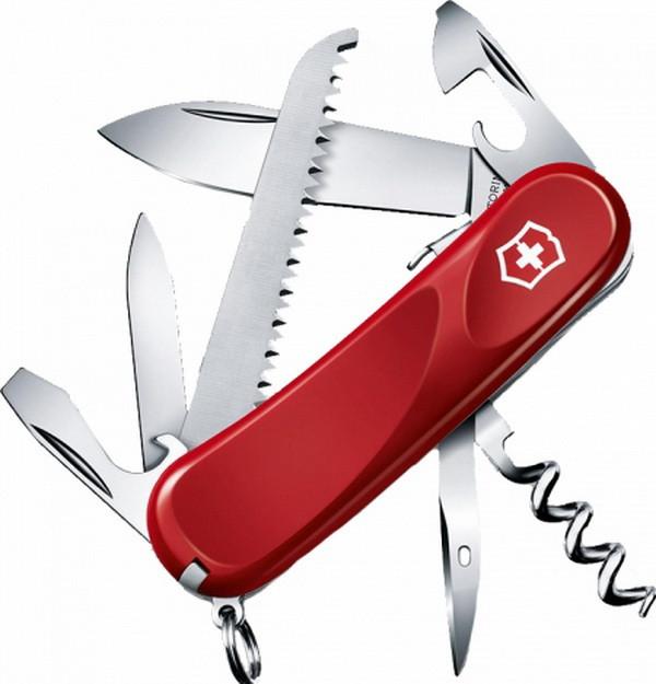 Нож складной, мультитул Victorinox Evolution S13 (85мм, 14 функций), красный 2.3813.SE