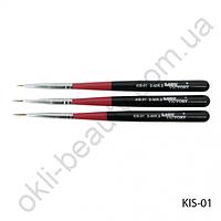 Набор кистей для рисования разных размеров (3 шт) Lady Victory KIS-01