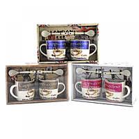 Подарочный набор из 2х чашек и ложек Blue Mountain Coffee
