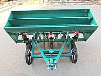 Сеялка зерновая дисковая на 6 рядов с бункером для удобрений для мотоблока и мототрактора