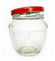 Банка стеклянная для консервации  1062 мл. с металлической крышкой твист - офф  Everglass