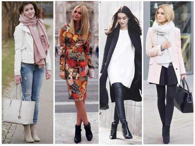 С чем носить женские полусапожки на танкетке, каблуке, платформе?