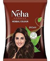 Хна-фарба для волосся (хна краска для волос коричневая) NEHA HENNA (Неха Хена) 20г коричнева виробництва Індії