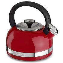 Чайник KitchenAid KTEN20DBER 2.0-Quart Full Handle and Trim Band Stovetop Kettle, 2, Empire Red