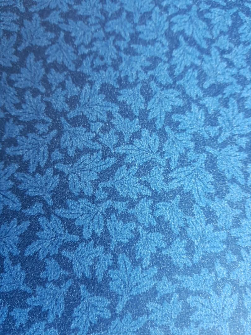 Шпалери флізелінові Decoprint Elisir EL21044 маленькі листя темно бірюзові на чорному тлі
