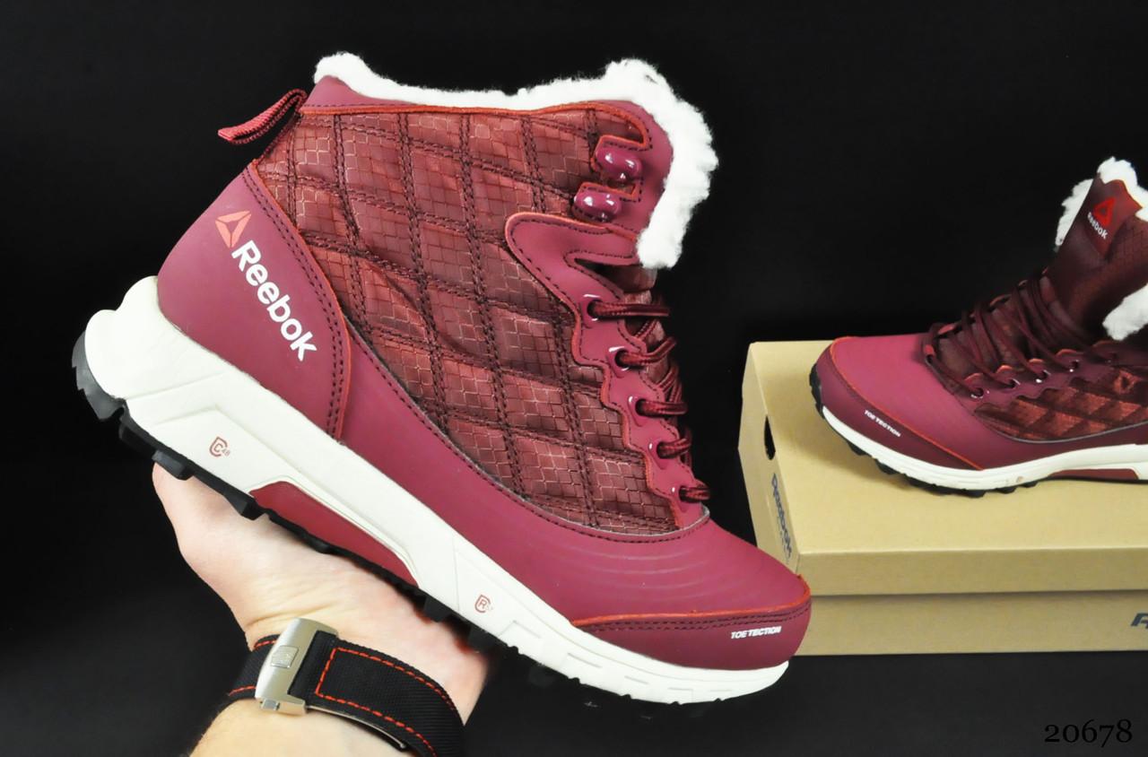 Ботинки Reebok arctic sugar арт 20678 (зимние, женские, бордовые)