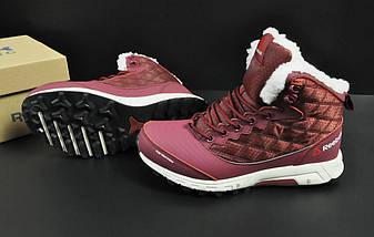 Ботинки Reebok arctic sugar арт 20678 (зимние, женские, бордовые), фото 3