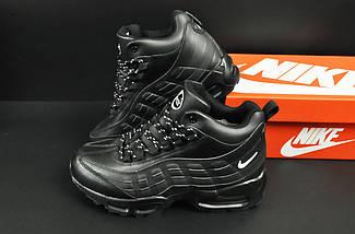 Ботинки Nike Air Max 95 арт 20677 (зимние, мужские, черные), фото 2