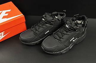 Ботинки Nike Air Huarache арт 20675 (зимние, мужские, черные), фото 3