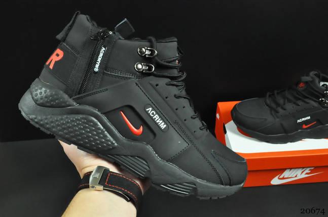 Ботинки Nike Air Huarache арт 20674 (зимние, мужские, черные), фото 2