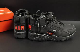 Ботинки Nike Air Huarache арт 20674 (зимние, мужские, черные), фото 3