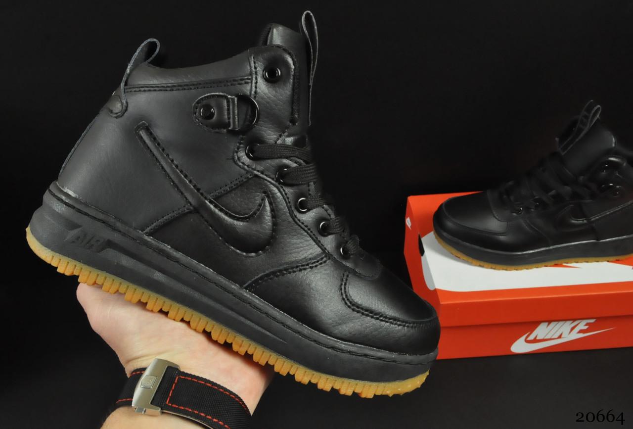Ботинки Nike Lunar Force 1 арт 20664 (зимние, найк, черные)