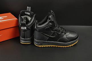 Ботинки Nike Lunar Force 1 арт 20664 (зимние, найк, черные), фото 2