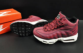 Ботинки Nike Air Max 95 Sneakerboot арт 20659 (зимние, найк, бордовые), фото 3