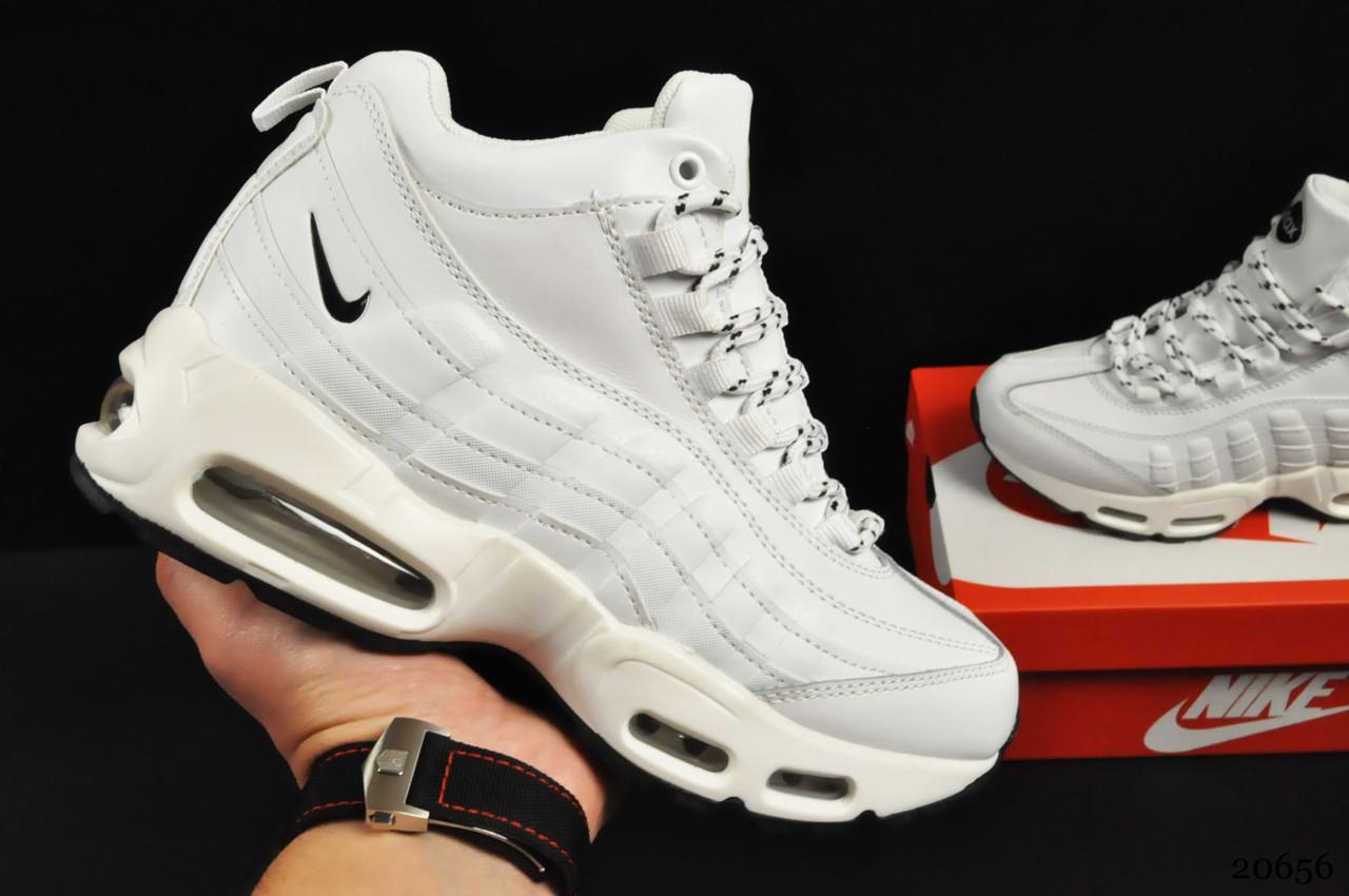Ботинки Nike Air Max 95 Sneakerboot арт 20656 (зимние, найк, белые)
