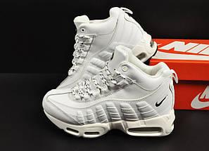 Ботинки Nike Air Max 95 Sneakerboot арт 20656 (зимние, найк, белые), фото 2