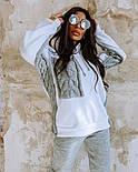 Жіночий повсякденний в'язаний костюм: світшот на флісі і вовняні штани (в кольорах), фото 4