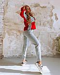 Жіночий повсякденний в'язаний костюм: світшот на флісі і вовняні штани (в кольорах), фото 5
