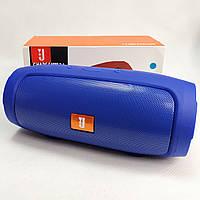 Портативная колонка bluetooth блютуз акустика для телефона мини с флешкой синяя charge mini3+