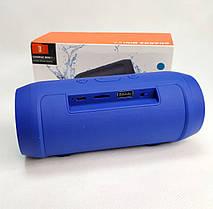 Портативная колонка bluetooth блютуз акустика для телефона мини с флешкой синяя mini2+, фото 3