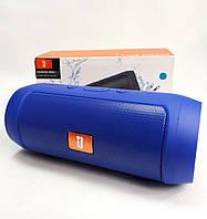 Портативная колонка bluetooth блютуз акустика для телефона мини с флешкой синяя mini2+