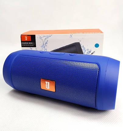 Портативная колонка bluetooth блютуз акустика для телефона мини с флешкой синяя mini2+, фото 2