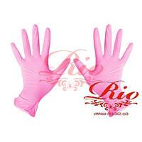 Перчатки нитриловые Mercator Medical розовые XS 100 шт