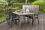 Набор садовой мебели Samanna Lima Dining Set из искусственного ротанга ( Allibert by Keter ), фото 7