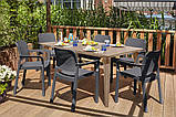 Набір садових меблів Samanna Lima Dining Set зі штучного ротанга ( Allibert by Keter ), фото 5