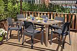 Набор садовой мебели Samanna Lima Dining Set из искусственного ротанга ( Allibert by Keter ), фото 5