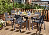 Набір садових меблів Samanna Lima Dining Set зі штучного ротанга ( Allibert by Keter ), фото 8
