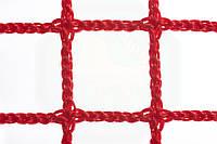 Оградительная сетка безузловая испанская, D – 2 мм, ячейка – 2 см, для спортзалов и стадионов, красная, фото 1