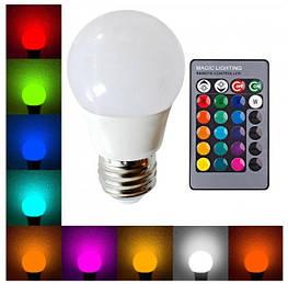 Лампа диско AC85-265V RGB, 220V, пульт Д/У