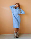 """Жіноча в'язана сукня вільного крою під голо """"Квадрат"""" (в кольорах), фото 5"""