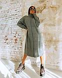 """Жіноча в'язана сукня вільного крою під голо """"Квадрат"""" (в кольорах), фото 4"""