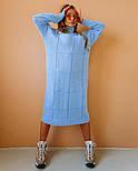 """Жіноча в'язана сукня вільного крою під голо """"Квадрат"""" (в кольорах), фото 9"""