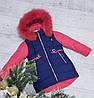 Зимняя куртка 18-2 на 100% холлофайбере размеры от 98 см см рост