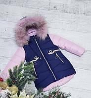 Зимняя куртка 18-2 на 100% холлофайбере размеры от 104 см до 116см рост, фото 1