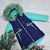 Зимняя куртка 18-2 на 100% холлофайбере размеры от 98 см до 122 см рост